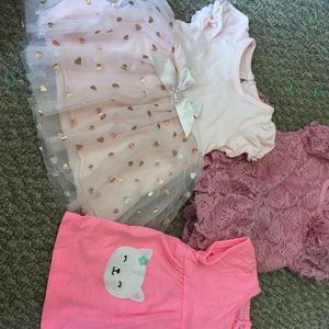 Lot of 3 3-6 month girl dresses